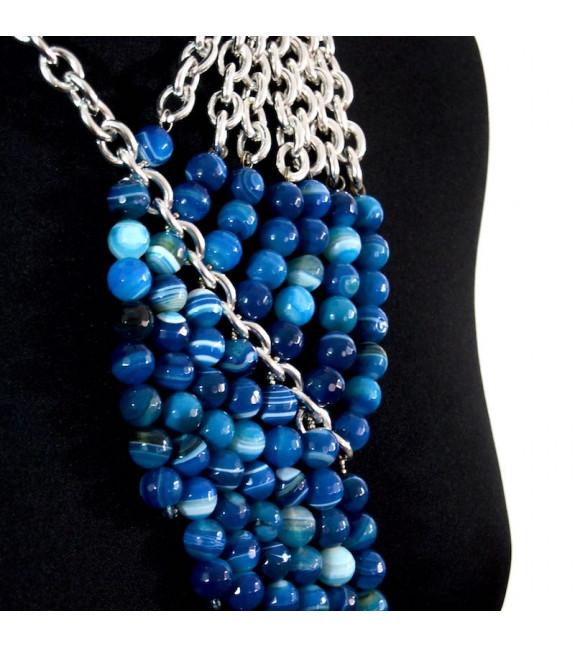 Collar asimétrico Eris azul