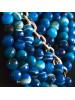 Collar asimétrico Eris azul detalle