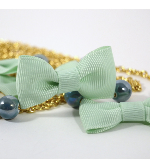 Collar Lacitos Pastel verde claro