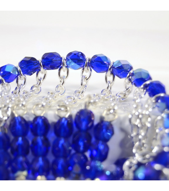 Pulsera Nicte Checo azul detalle