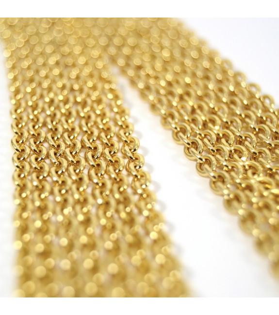 Pendientes largos Cadenas oro