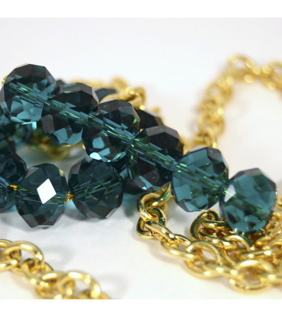 Collar Pasador XXL verde azulado