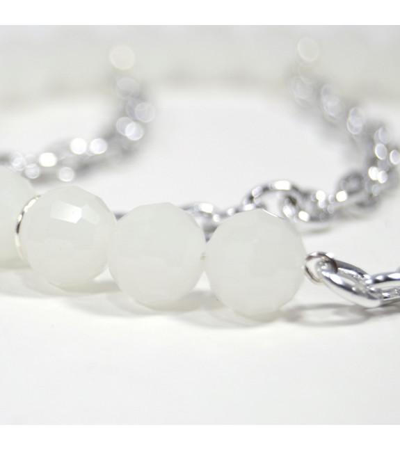Collar Arco CANDELA blanco plata