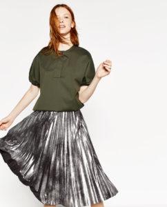 Zara-falda-plisada-metalizada